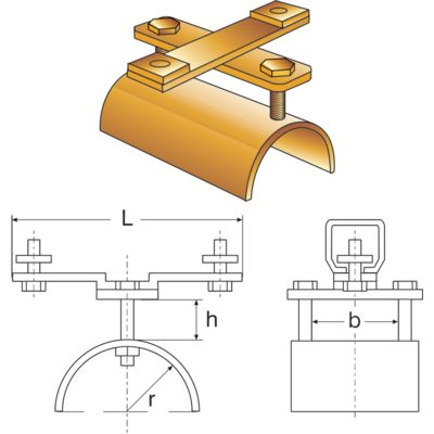 Flat cable clamps